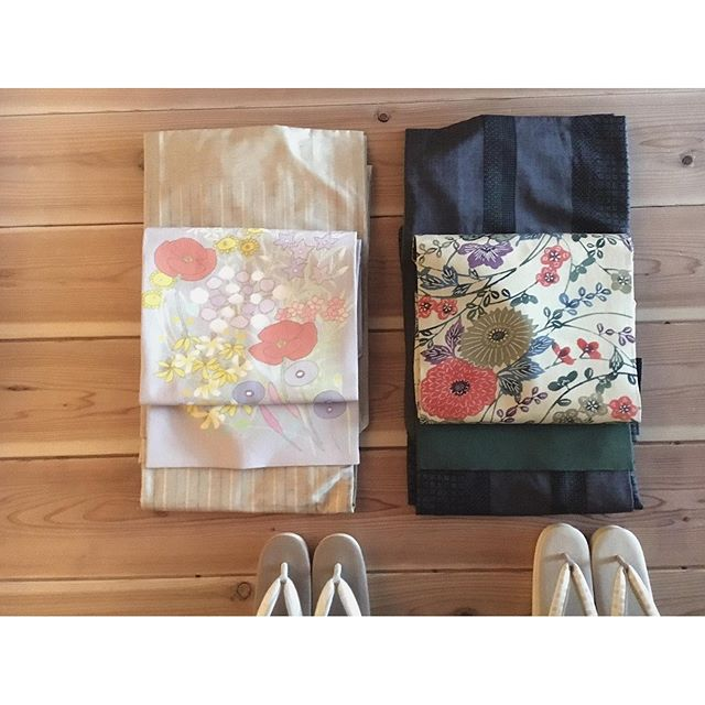 着物の方もイベントに合わせてメンテナンスを仕上げてもらいました。・可愛い帯、本結城、入ってます・大島紬、結城紬、牛首紬。日本三大紬が揃っていますよー